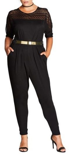 228f4e54825b Plus Size Women s City Chic Sports One Belted Jumpsuit Sport One
