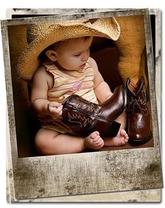 It's a country life for me photography-ideas Little Cowboy, Cowboy And Cowgirl, Cowboy Hats, Baby Pictures, Baby Photos, Cute Pictures, Toddler Photos, Newborn Photos, Pic Pose