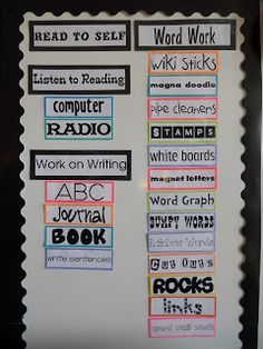 Iam divingdeeperinto Daily 5 this year {but of course it isa tweaked version to fit our classroom & schedule}. Here arethe options ...