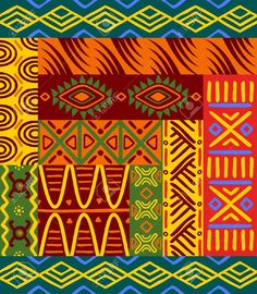 Vector - Abstract ethnic patterns and ornaments for design