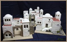 Here are 16 awesome ideas for diy Christmas decorations. Some of the material I got from a dollar tree store. Christmas Manger, Christmas Nativity Scene, Christmas Diy, Christmas Decorations, Holiday Decor, Nativity Scenes, Bible Activities, Ceramic Houses, Dollar Tree Store