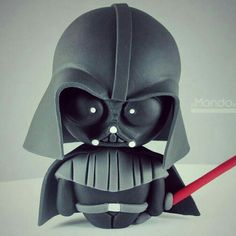 A cute and well done Darth Vader right there! Cake inspiration for a Star Wars fans and Fondant lovers i guess