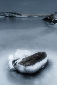 'Ice crack 2' by Mikael Svensson on artflakes.com as poster or art print $20.79