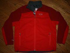 NWT Mountain Hardwear Nansen Airshield Elite red fleece Jacket-Men's XL-ski/NEW