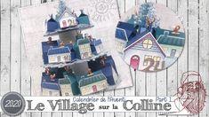 """[Tutoriel] """"Calendrier de l'Avent * Village sur la Colline"""" par Coul'Heure Papier - YouTube Stampin Up, Scrapbooking, Advent Calendar, Paper, Stamping Up, Scrapbook, Memory Books, Scrapbooks"""