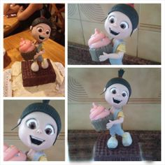 Agnes despicable me cake topper