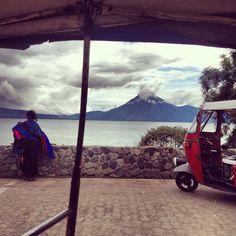 View of Lake Atitlan from a TukTuk  www.hiptipico.com  #travelphotography #photojournal #lakeatitlan #panajachel #tuktuk #culture #mayan #nature #mothernature