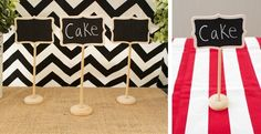 Mini Chalkboard Stands – Set of 3!