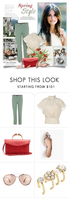 """""""Spring,Where Are You?"""" by thewondersoffashion ❤ liked on Polyvore featuring Miu Miu, RED Valentino, Mansur Gavriel, J.Crew, Tom Ford, Marc Jacobs, miumiu, TOMFORD, RedValentino and PenelopeCruz"""