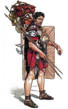 """Roman legionary"", Andrey Karashchuk (Aндрей Kаращук)  They marched all across Europe with that and more on their backs."