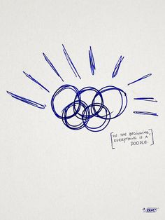 """Creative Bic Pen Ads Show How Great Ideas Begin With A Sketch - The ads created by Miami Ad School/ESPM in São Paulo, feature ink scribbles of famous logos & are accompanied by the tagline """"In the beginning, everything is a doodle. Creative Advertising, Advertising Design, Bic Pens, Pen Doodles, Famous Logos, Great Ads, Conceptual Design, Doodle Sketch, Ad Design"""