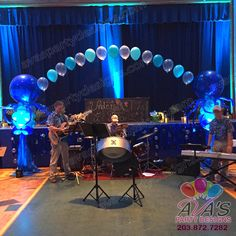 String of Pearl Under the Sea theme Balloon Arch. #PartyWithBalloons