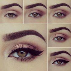 Aprende más técnicas para maquillar tus ojos en 1001consejos.com | maquillaje para ojos cafés - maquillaje paso a paso ojos marrones - maquillaje de día piel morena ojos. #maquillaje #eyeshadow #makeupideaspasoapaso