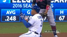 New trendy GIF/ Giphy. mlb baseball toronto blue jays alcs game 3 blue jays carrera ezequiel carrera. Let like/ repin/ follow @cutephonecases