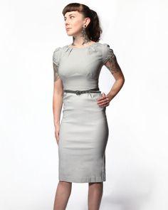 Stop Staring Ashley Dress - Grey - Punk.com