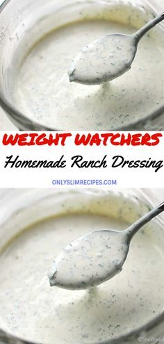 Recipes For Weight Loss Homemdae Ranch Dressing // Weight Watchers Dressing, Salade Weight Watchers, Plats Weight Watchers, Weight Watchers Diet, Weight Watcher Girl, Weight Watchers Appetizers, Weight Watcher Dinners, Skinny Recipes, Ww Recipes