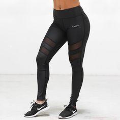Size: medium     Cutout Mesh Leggings   Live Fit. Apparel