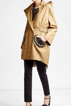 Cotton Trench with Leather Patches   Fendi / Search for more with our Best Sales Finder!