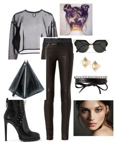 """shes a vixen in her own right"" by tyrakotze ❤ liked on Polyvore featuring Yves Saint Laurent, rag & bone, Alaïa, McQ by Alexander McQueen, Fendi, Valentino, Fallon and Burberry"
