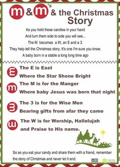 Best of Chrstmas & the M&M Christmas Poem featured on the RemARKable… Christmas Poems, Christmas Program, Christmas Activities, A Christmas Story, Christmas Printables, Christmas Traditions, All Things Christmas, Winter Christmas, Christmas Projects