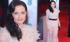 Sherlock star Lara Pulver wears daring sheer dress to BAFTAs