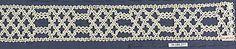 Date:      16th century  Culture:      Italian (Venice)  Medium:      Bobbin lace  Dimensions:      L. 15 1/2 x W. 2 inches 39.4 x 5.1 cm