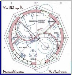 round house plans interesting round home designs The Plan, How To Plan, Round House Plans, House Floor Plans, Building Plans, Building A House, Earthship Home, Natural Homes, Dome House
