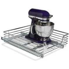"""79.95 21""""L x 20""""W x 6.25""""H Item# 21048 20 x 21 Chrome Slide-Out Cabinet Basket by Household Essentials"""