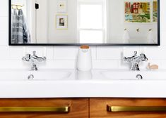 Caulk is a necessary tool in any DIY-ers arsenal! I'm here to break down why, the kind you need for which project, and how to get that perfect caulk line. Yellow Bathrooms, Dream Bathrooms, White Bathroom, Beautiful Bathrooms, Small Bathroom, Bathroom Ideas, Ikea Sinks, Ikea Vanity, Wood Vanity