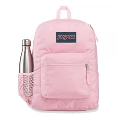 Cross Town Remix is a perfect bag for primary school, but it is also used by many secondary and 3rd level students. It is also used as a day pack and for travelling. The side bottle holder will make all the difference. Mochila Jansport, Jansport Backpack, Handbags For School, Pink Candy, School Backpacks, Fabric Material, Laptop Sleeves, Vogue, Stay Hydrated