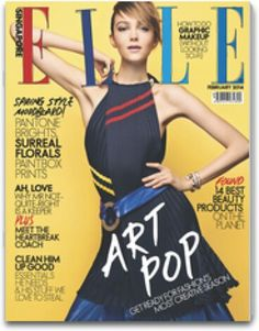 "ELLE Singapore magazine Feb 2014 celebrated #ARTPOP in fashion to describe their CREATIVE collections this season ("""")("""")"