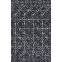 Found it at Wayfair - Traditions Made Modern Hand Tufted Wool Indigo Area Rug 8 x 11  $1300