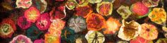 "TUTORIAL: How to Wet Felt a Rug ""Fall Flowers"" - WALDORF (inspired ..."