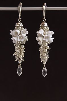 Hey, I found this really awesome Etsy listing at https://www.etsy.com/listing/218845974/earrings-white-flowers-of-the-polymer