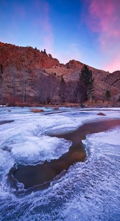 Icy Poudre River - Most Beautiful Pictures