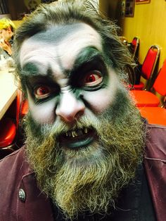 Ghost pirate makeup by Shawn Morse, Haunted Nightmare