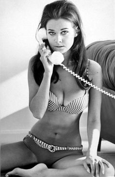 Imogen Hassall, worried on the phone, 1970s