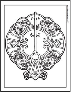 Key Celtic Coloring Page Bell Shaped