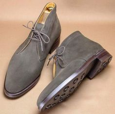 Handmade gray Boots, Hand stitched chukka suede Boots Men ankle high chukka boots, dress boots sold by Shop more products from on Storenvy, the home of independent small businesses all over the world. Mens Suede Boots, Mens Shoes Boots, Suede Leather Shoes, Grey Boots, Shoe Boots, Soft Leather, Men's Boots, Mens Chukka Boots, Men Dress Shoes