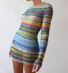 Sequin Stripe Dress | Etsy