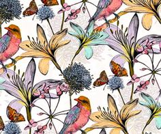 100 Tapetenmuster – Was ist das Stein- oder Mustertapete? charlotte Duffy – She is just fab at this love it. Motifs Textiles, Textile Patterns, Print Patterns, Floral Patterns, Design Patterns, Surface Pattern Design, Pattern Art, Pattern Fabric, Pattern Drawing
