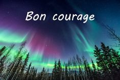 Bon Courage, Messages, Northern Lights, Love, Travel, Get Well Soon, Good Night, Bonjour, Positive Vibes