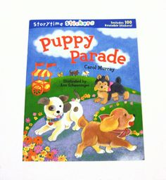 the poky little puppy coloring book 95 page puppy parade story time sticker book includes 100 reusable stickers