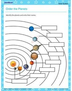 Order the Planets – Solar system worksheets for kids - Technology and Science 2019 4th Grade Science, Science Classroom, Science Lessons, Teaching Science, Science For Kids, Classroom Ideas, Teaching Geography, Science Education, Solar System Worksheets