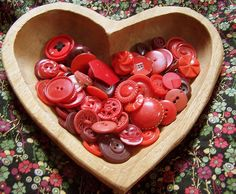 i like the heart shaped bowl full of red buttons