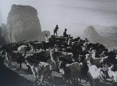 1991, Meteora, Greece |  Photo: Costas Balafas, Benaki Museum, Photographic Archives | #visitGreece #visitMeteora