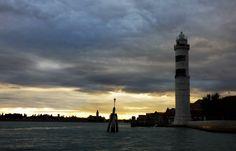 Murano, Leuchtturm abends - Venedig, Foto: S. Hopp