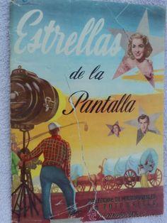 ANTIGUO ALBUM CROMOS ESTRELLAS DE LA PANTALLA. RUIZ ROMERO SEGUNDA SERIE. INCOMPLETO