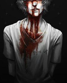 Anime boy blood