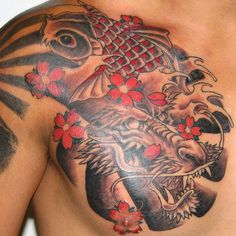 Men's Haircuts Hairstyles 2019 - Best Dragon Tattoos For Men: Cool Dragon Tat. - Men's Haircuts Hairstyles 2019 – Best Dragon Tattoos For Men: Cool Dragon Tattoo Ideas, Bada - Koi Dragon Tattoo, Dragon Tattoos For Men, Dragon Tattoo Designs, Tattoo Designs Men, Tattoos For Guys, Cool Tattoos, Koi Tattoo Design, Japanese Koi Fish Tattoo, Japanese Tattoo Designs